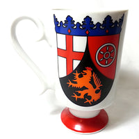 Heraldic Pedestal Mug Vintage Smug Mugs Royal Crown Arnart T. Jones 3690 k212