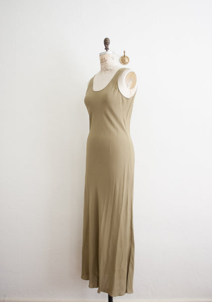 Desert Sand Long Silk Tank Dress