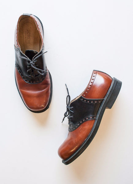 Two Tone Leather JCrew Saddle Shoes | 8