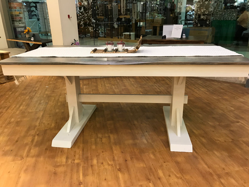 "72""x36"" Trestle table"