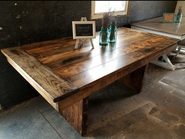 Pedestal Farmhouse Dining Table