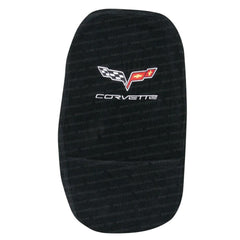 Corvette Center Console Cover - Embroidered Emblem - Seat Armour : 2005-2013 C6, Z06, ZR1, Grand Sport