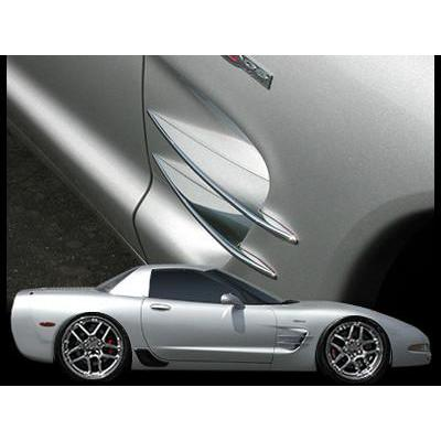 (97-04 C5 / C5 Z06) : Corvette Side Spears - Billet Aluminum Chrome