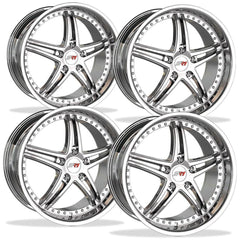 Corvette Wheels - SR1 Performance / BULLET Series (Set) - Chrome : 18x8.5/19x10 97-13 C5,C6