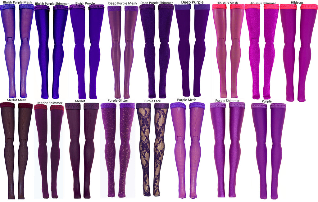 Dark Purple Doll Stockings for Ever After High & Monster High - Doll Clothes - All Sizes