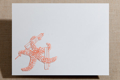 Flat Cards - Starfish with Beach Gear