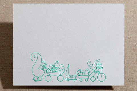 Flat Cards - Critters on Wheels