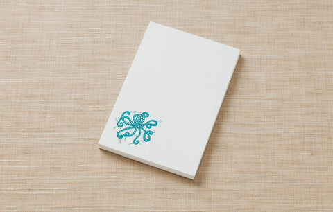 Note Pad - Octopus with Golf Clubs