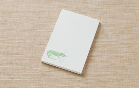 Note Pad - Alligator with Snorkel Gear
