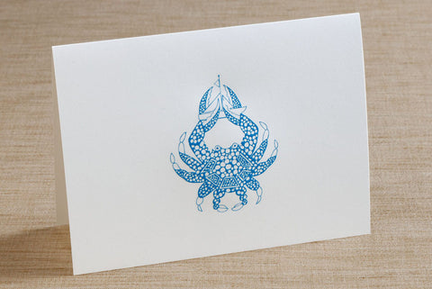 Folded Cards - Crab with Sailboat