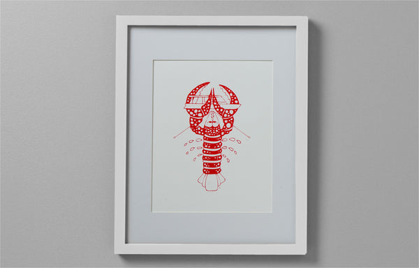 Art Print - Lobster with Powerboat