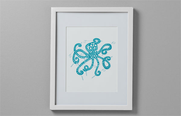Art Print - Octopus with Golf Clubs