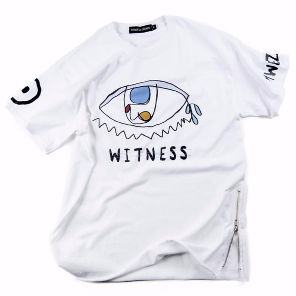"Undaunted Triumph T-shirt - ""Eye Witness"" - White"