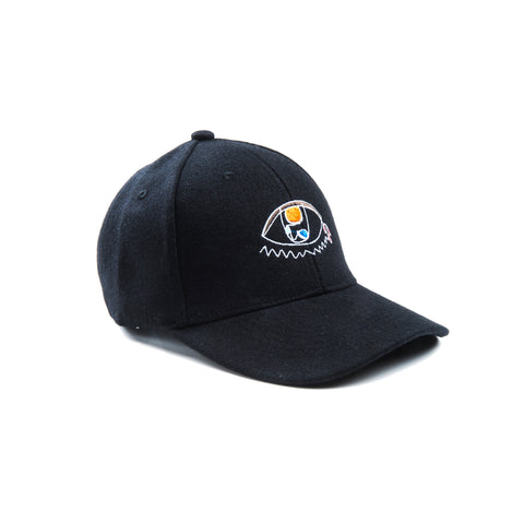 Undaunted Triumph Wool 6-panel Baseball Cap - Black