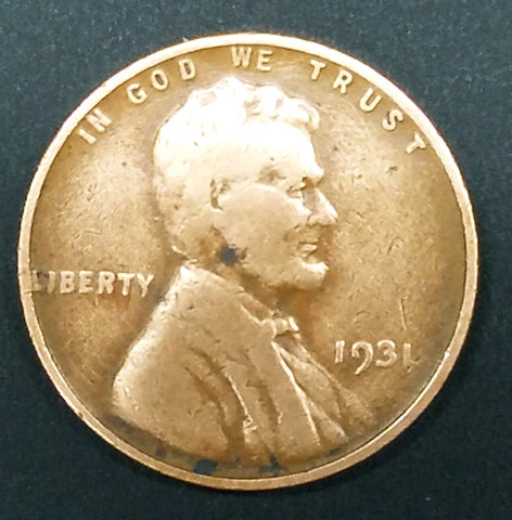 HOT! 1931 Lincoln Wheat Cent Penny Key Date RARE COIN Low Mintage Nice Detail, CardboardandCoins.com