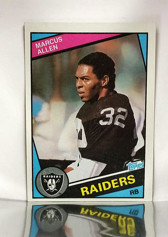 Allen, Marcus, Raiders, Running Back, RB, Rushing, Receiving, Passing, Yards, Football Cards, Topps, 1984