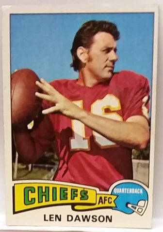 1975 Topps #120 Len Dawson, QB, Kansas City Chiefs, Graded NM, CardboardandCoins.com