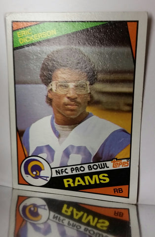 1984 Topps # 280 Eric Dickerson ROOKIE CARD, HOF Running Back, RAMS 1808 yards, CardboardandCoins.com
