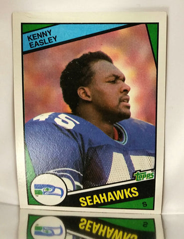 Easley, Kenny, Seahawks, Seattle, Safety, Interceptions, Punt Returns, Rushing, Receiving, Passing, Yards, Football Cards, Topps, 1984