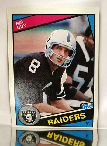 Guy, Ray, Raiders, Punter, Field Goal, Punting, Receiving, Passing, HOF, Football Cards, Topps, 1984