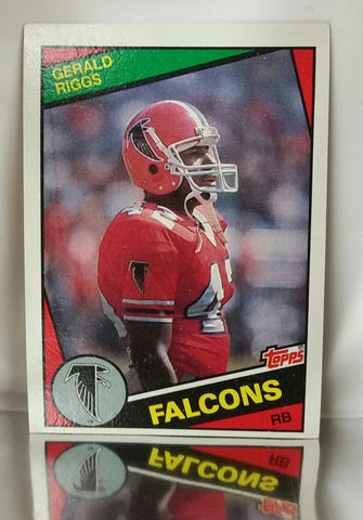 Riggs, Gerald, Falcons, Atlanta, Running Back, RB, Rushing, Receiving, Passing, Yards, Football Cards, Topps, 1984