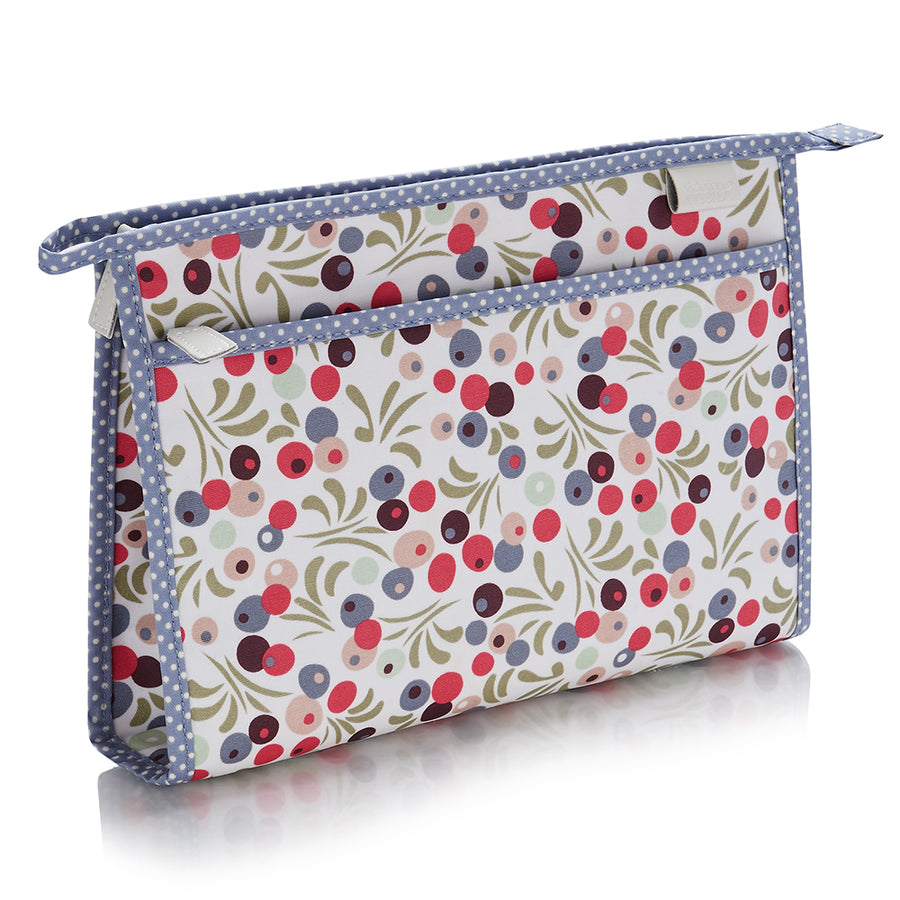 travel wash bag ladies in tilbury smoke print