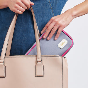 Beauty case designed to fit in handbag