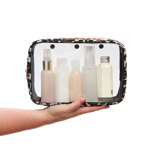 Detachable ladies wash bag tan leopard from travel wash bag by Victoria Green