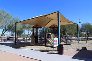 Hip Shade Structure Over Park