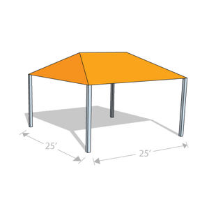 HS-2525 Hip Shade Structure - Tenshon
