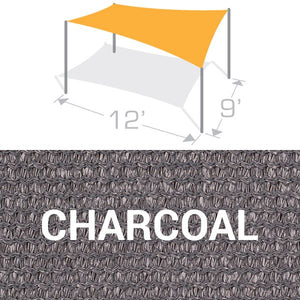 RS-912 Sail Shade Structure Kit - Charcoal
