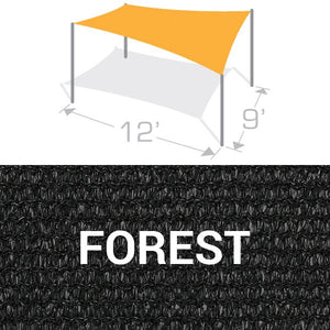 RS-912 Sail Shade Structure Kit - Forest