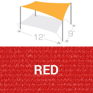RS-912 Sail Shade Structure Kit - Red