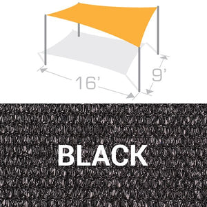 RS-916 Sail Shade Structure Kit - Black