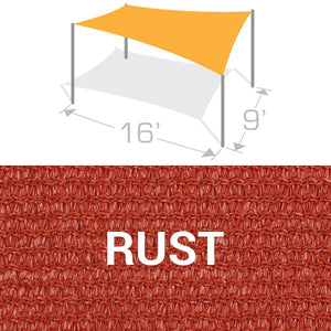 RS-916 Sail Shade Structure Kit - Rust