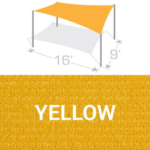 RS-916 Sail Shade Structure Kit - Yellow