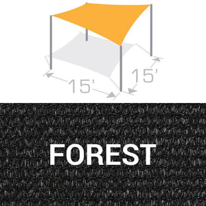 SS-15 Sail Shade Structure Kit - Forest