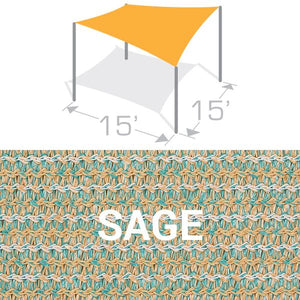 SS-15 Sail Shade Structure Kit - Sage