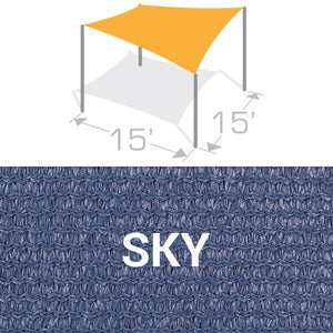 SS-15 Sail Shade Structure Kit - Sky