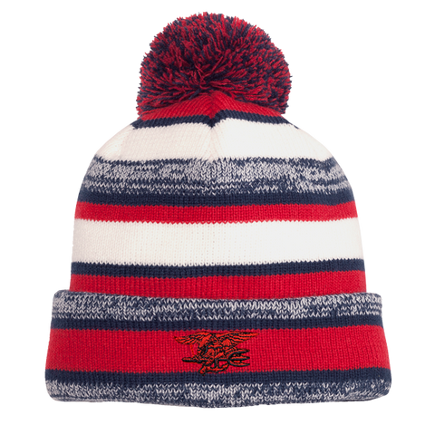 Trident Red/White/Navy Sideline Beanie
