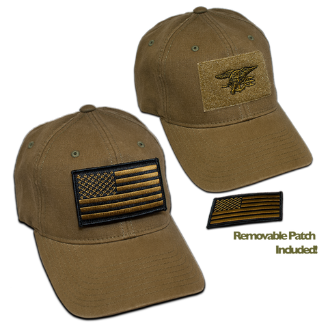 Green FlexFit Velcro Hat with Trident - UDT-SEAL Store  - 1