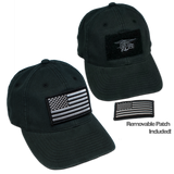 Black Flex Fit Velcro Hat with Trident - UDT-SEAL Store  - 1