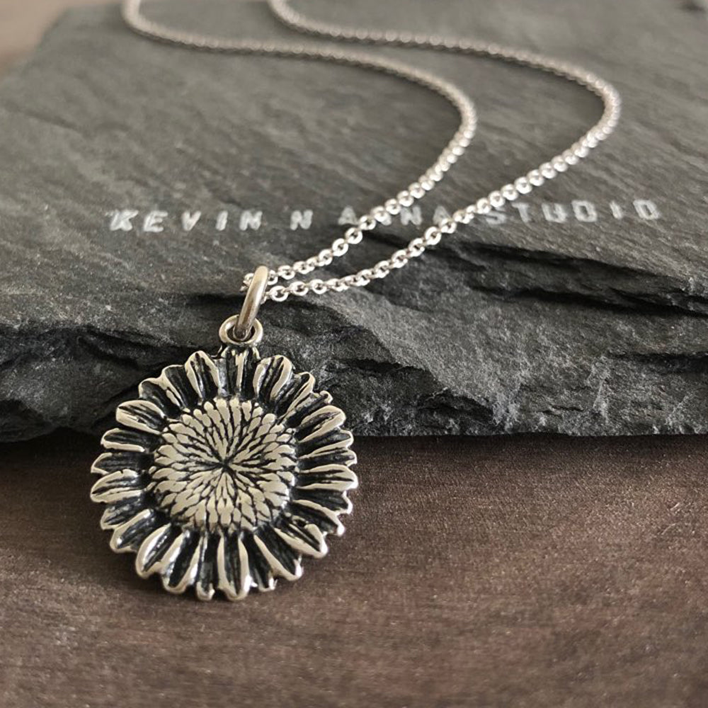 Sunflower Necklace-1358 - Kevin N Anna