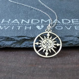 Compass Necklace-749 - Kevin N Anna