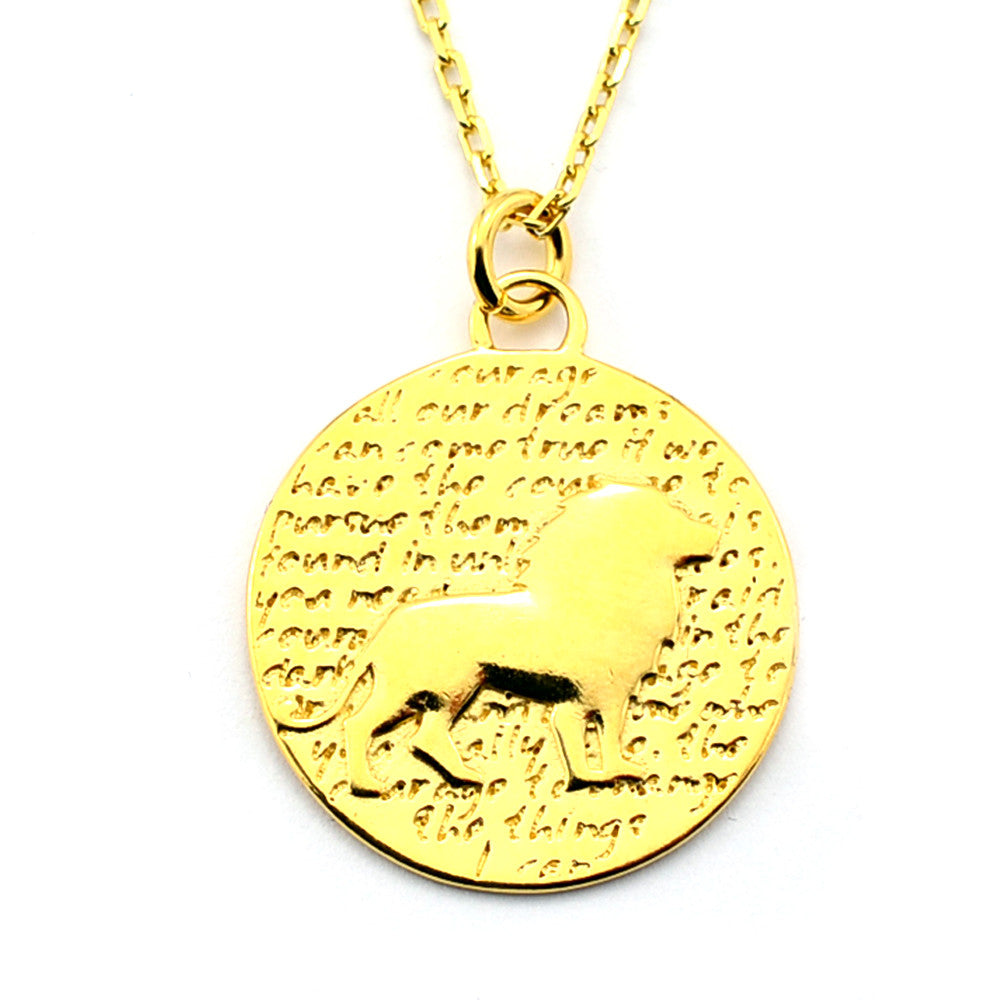 Lion Necklace (Courage )-D92G - Kevin N Anna
