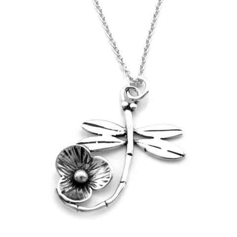 Dragonfly Necklace  (Grace)-D34SM