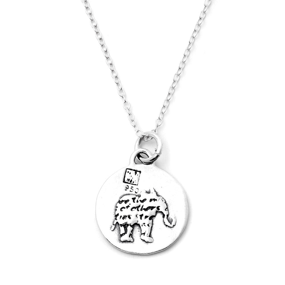 Elephant Necklace (Strength)-D36SM - Kevin N Anna