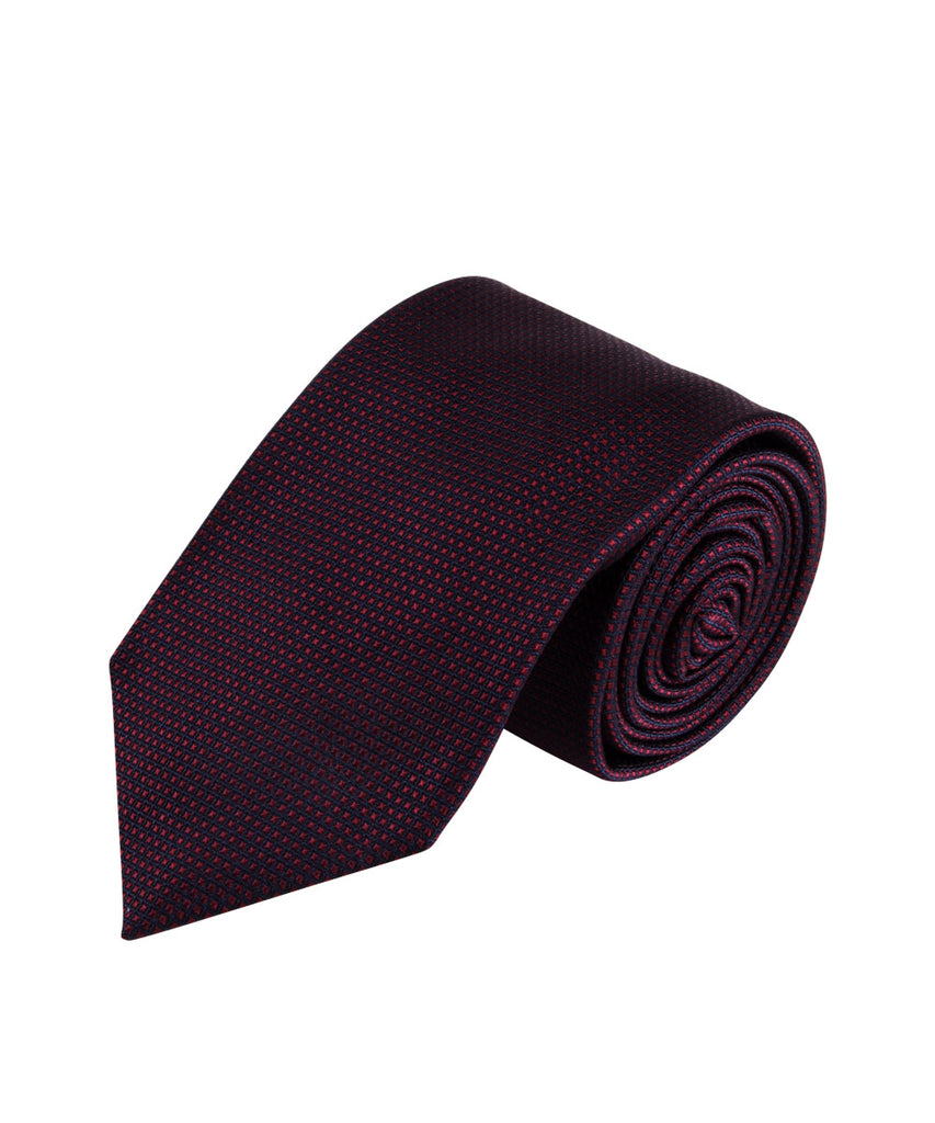 Burgundy Textured Solid Tie (Long)