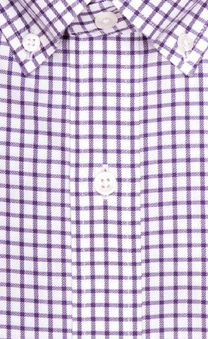 Wilkes & Riley Purple Twill Check Button Down Alt