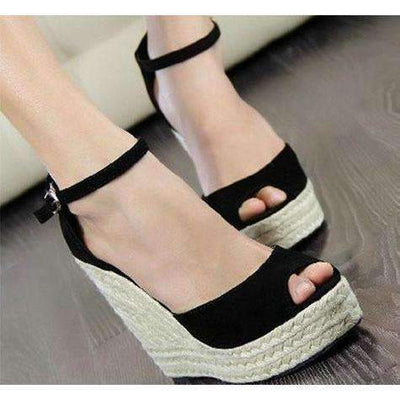 Sexy Ankle Strap Women Wedges Platform Sandals Shoes,Wedges Daisy Dress For Less
